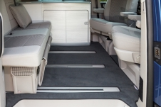 Velour carpet for passenger compartment, VW T6/T5 California Ocean, Coast, Comfortline, design