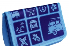 VW T1 Bus Neoprene Toiletry Bag - Surf/blue
