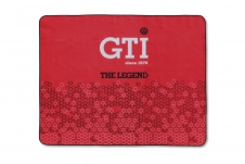 VW GTI PICNIC BLANKET WITH CARRYING BAG - THE LEGEND/RED