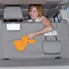 Second Skin for 2-seater bench VW T6/T5 with recess for the ISOFIX and top tether child anchorage points, design California Ocean