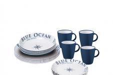 Brunner lunch Box Blue ocean serviesset (16dlg)